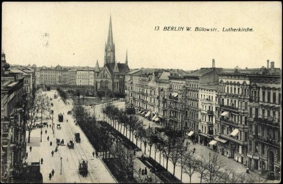 Ansichtskarte / Postkarte Berlin Schöneberg, Bülowstraße, Lutherkirche