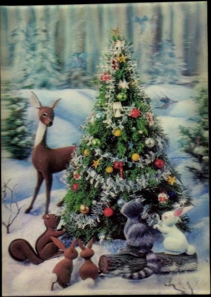 3 d ansichtskarte postkarte weihnachten tannenbaum. Black Bedroom Furniture Sets. Home Design Ideas