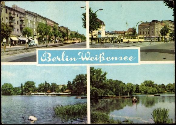 ansichtskarte postkarte berlin wei ensee badenanstalt. Black Bedroom Furniture Sets. Home Design Ideas