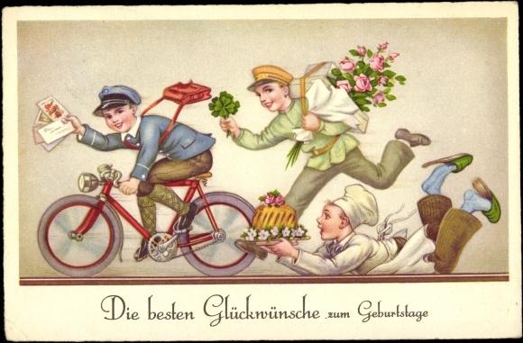 ansichtskarte  postkarte glückwünsche zum geburtstag