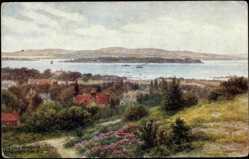 Künstler Ak Quinton, A., Poole South West, Harbour,Hill