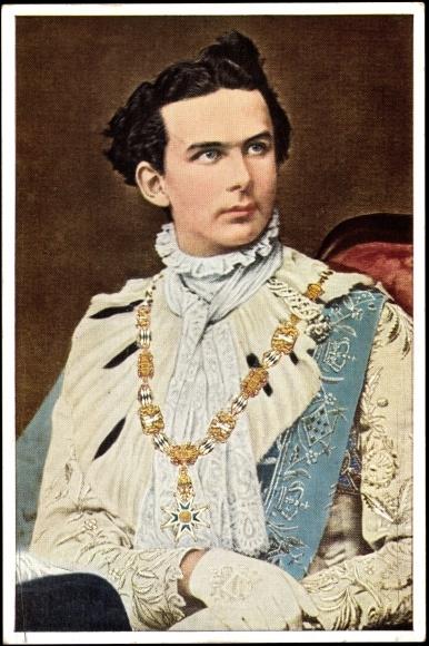 Briefe Von Ludwig Ii : Artist postcard king ludwig ii von bayern georgritter