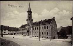 Ak Cönnern, Partie am Rathaus, Marktplatz, Turm, Kind
