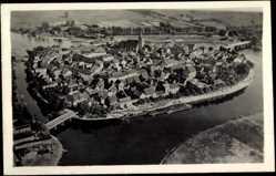 Postcard Havelberg Anhalt, Fliegeraufnahme von der Stadt