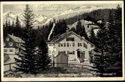 Künstler Ak Vorarlberg, Grenzwirtshaus Walserschanz