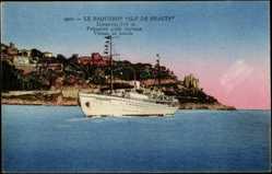 Postcard Navigation Fraissinet, Dampfschiff Ile de Beauté