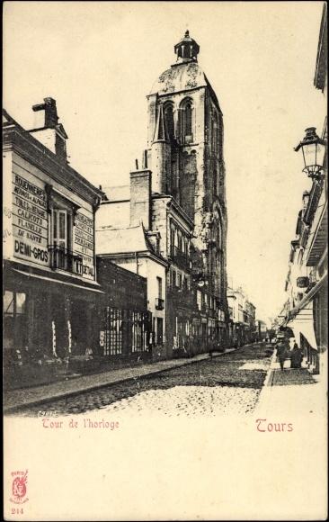 Carte postale Tours en Indre et Loire, Tour de l'horloge
