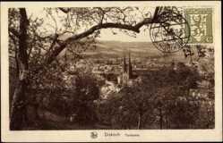 Postcard Diekirch Luxemburg, Panorama vom Wald aus