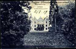 Postcard Ahrensburg, Schloss, vom Wulfsdorferweg gesehen