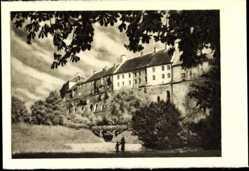 Postcard Tallinn Estland, alte Häuser auf dem Domberge