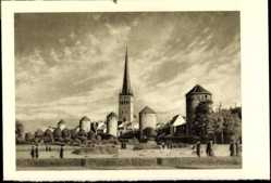 Postcard Tallinn Estland, Tornide Väljak, Platz der Türme