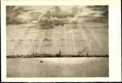 Postcard Tallinn Estland, Vaade merelt, Blick auf das Meer
