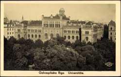 Postcard Riga Lettland, Galvaspilseta, Universität
