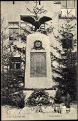 Postcard Heitersheim Württemberg, Partie am Kriegerdenkmal, Adler