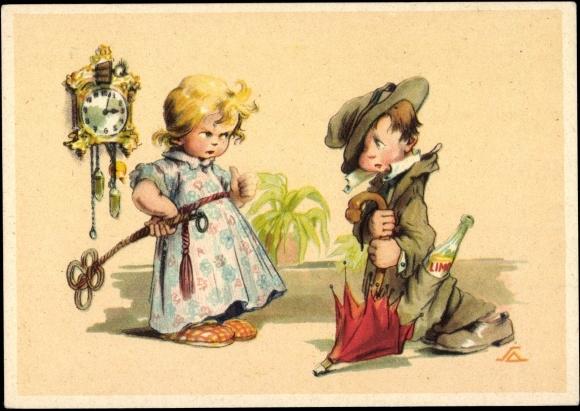 Künstler Ansichtskarte  Postkarte Salac, A L, Ehepaar