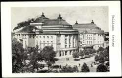 Postcard Tallinn Estland, Straßenpartie mit Blick auf das Theater