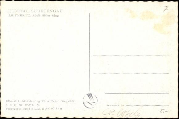 Postcard Leitmeritz A D Elbe Sudetengau Region Aussig Akpool Co Uk