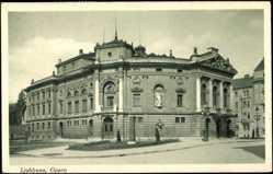 Postcard Ljubjana Slowenien, Opera, Operngebäude aus Straßensicht