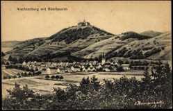 Künstler Ak Thomasizek, Wachsenburggemeinde, Blick auf die Veste und Kirche