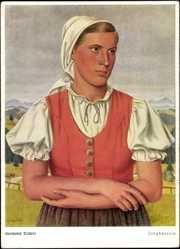 Künstler Ak Hermann Tiebert, Jungbäuerin, Bauerntracht