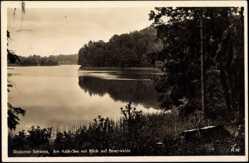 Postcard Neuruppin am Rhin, Partie am Kalk See mit Blick auf Binenwalde