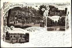 Litho Ahrensburg, Hotel Waldburg, Pension, Bes. Hermann Lampe, eröffnet 1871