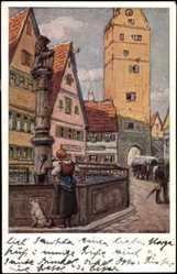 Künstler Ak Luftfahrerdank Verlag, Folge Nr 13, Kleinstadtidyll Nr 1