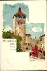 Künstler Litho Voellmy, F., Rheinfelden Kanton Aargau, Blick auf den Obertorturm