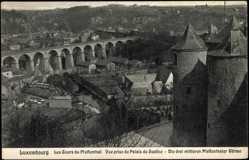 Postcard Pfaffenthal Luxemburg, Les Tours, vue prise du Palais de Justice