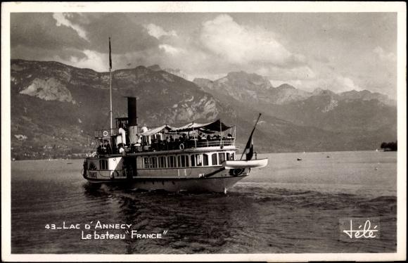 carte postale lac d 39 annecy le bateau france f hre. Black Bedroom Furniture Sets. Home Design Ideas