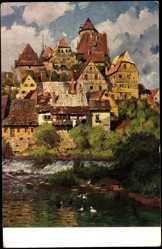 Künstler Ak Thamm Adolf, Schwäbisches Städtchen, Serie VI, Bild 4
