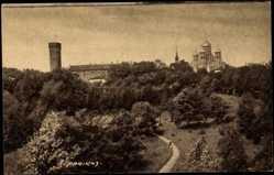 Postcard Reval Estland, Blick auf den Dom, Tallinn Toompea vaade