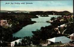 Ansichtskarte / Postkarte St. Georges Bermuda, general view of Mullet Bay, looking west