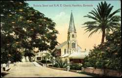 Ansichtskarte / Postkarte Hamilton Bermuda, general view of the Victoria Street and A.M.E. Church