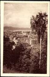 Postcard Ljubljana Slowenien, Gesamtansicht des Ortes, Pogled z gradu