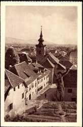 Postcard Ljubljana Slowenien, Florjanska ulica, Blick auf die Kirche