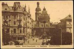 Postcard Lwow Lemberg Urkaine, Blick auf die Bernardinerkirche