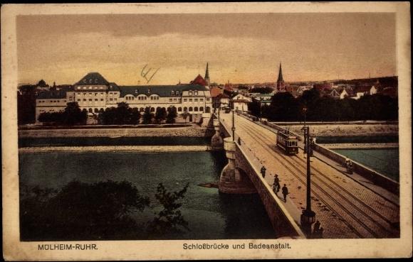 Ansichtskarte postkarte m lheim an der ruhr for Schwimmbad mulheim an der ruhr