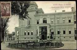 Postcard Belgrad Serbien, vue générale de l'entrée du Palais Royal