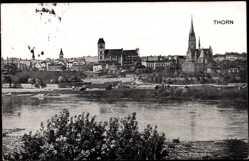 Ak Thorn Westpreußen, Gesamtansicht der Stadt mit Kirche