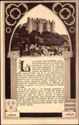 Cp Luynes Indre et Loire, vue générale du Château