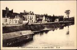Cp Saint Avertin Indre et Loire, vue générale du Quai du Cher