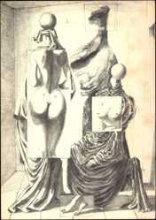 Künstler Ak Cremer, Leo, Die drei Grazien, 1953, Galerie Otto Stangl München