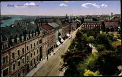 Ak Riesa Sachsen, Blick auf den Kaiser Wilhelmsplatz