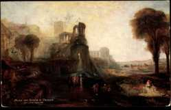 Künstler Ak Turner, J.M.W., Palace and Bridge of Caligula, Tempelruinen