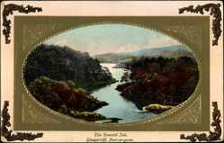 Präge Passepartout Ak Glengarrif Irland, The Emerald Isle, Poul na gurm