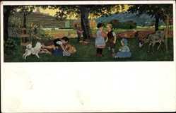 Künstler Ak Caspari, Gertrud, Volkskunstverlag, Herbstfreude, Nr 139