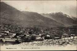 Postcard Monastir Mazedonien, Blick auf die Stadt mit Gebirge