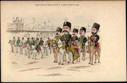 Künstler Ak S.M. Mouzzaffer cd Dinc, Shah de Pers, Exposition 1900