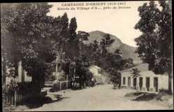 Postcard Doiran Mazedonien, Campagne D'Orient, Entrée du Village d'X